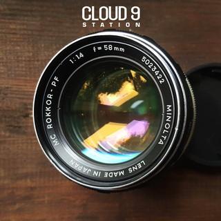 [Mã 1010ELSALE hoàn 7% đơn 300K] Ống kính MF - Minolta MC ROKKOR-PF 58mm f1.4 ngàm Minolta MD ( SR ) - 5023422 thumbnail
