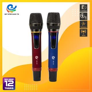 Micro Không Dây, Micro Hát Karaoke MU02, Chuyên Dành Cho Mọi Loa Kéo, Âm Ly ,Tần Số 50, Hát Nhẹ Và Êm