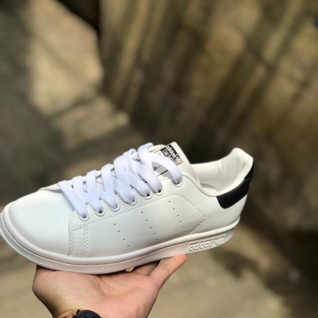 [SIÊU SALE] [FREE SHIP]  Giày sneaker stan smith gót đen [FULL BOX]