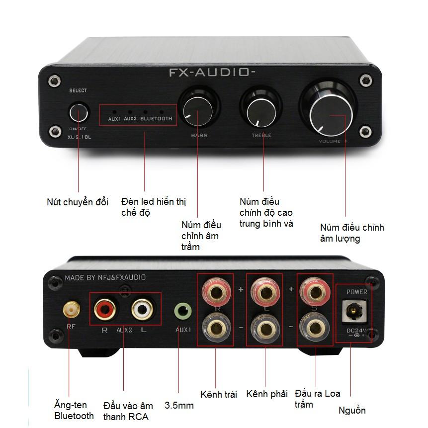 Bộ khuếch đại âm thanh FX Audio XL-2.1BL Bluetooth 4.0 Amplifier
