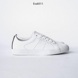 Giày Thể Thao Buộc Dây Họa Tiết Laze Đế Bằng Da PU Evashoes - Eva8311 thumbnail