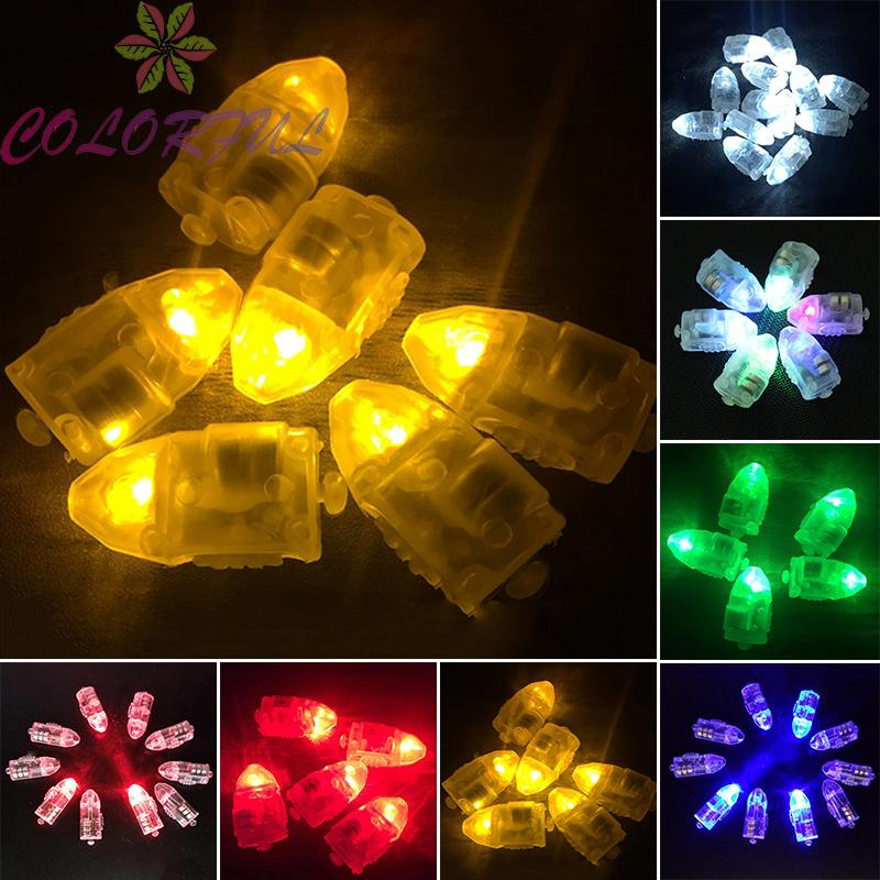 Bullet Shape Light Light Weight Cute Design RGB Round for Lantern Party 50Pcs Mini Size Bullet Shape Universal