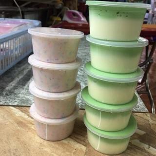 Slime mix 2 màu xanh vàng