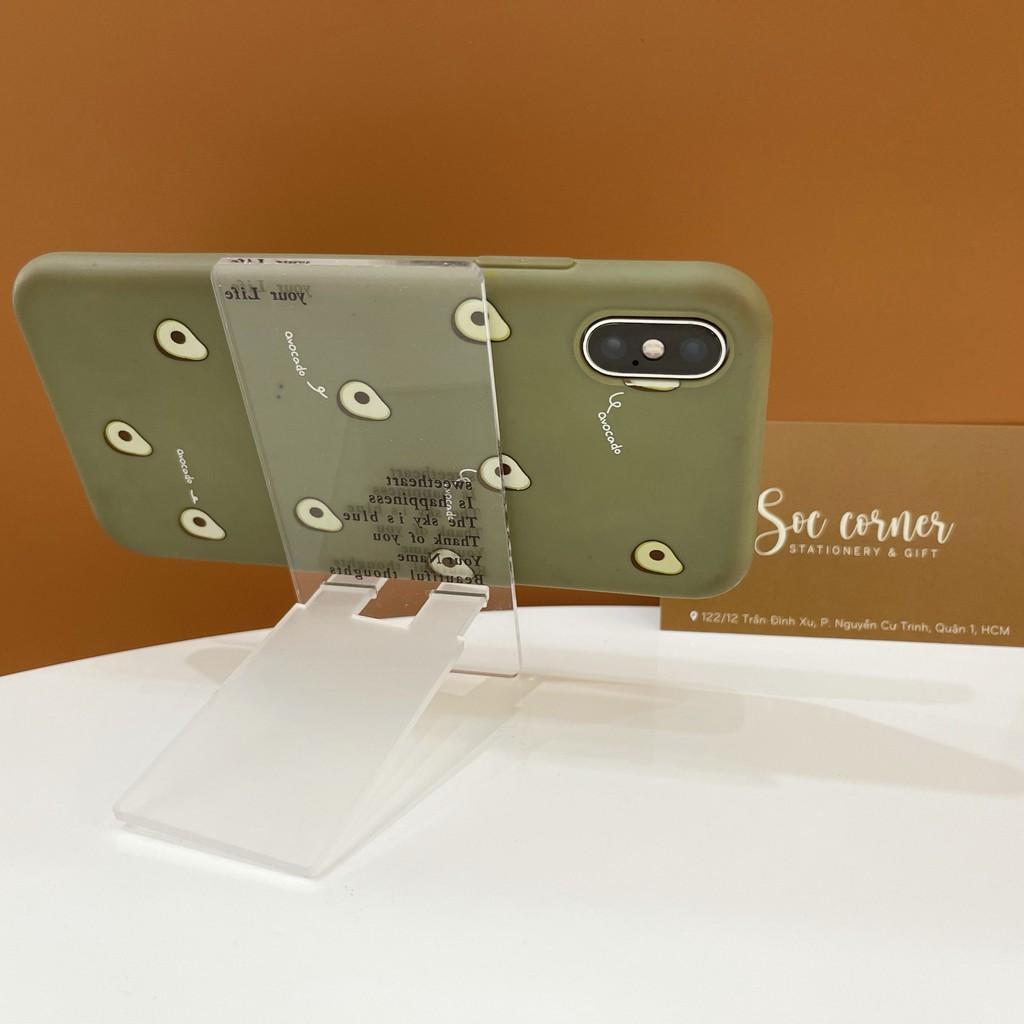 Kệ để điện thoại nhựa dễ thương để bàn