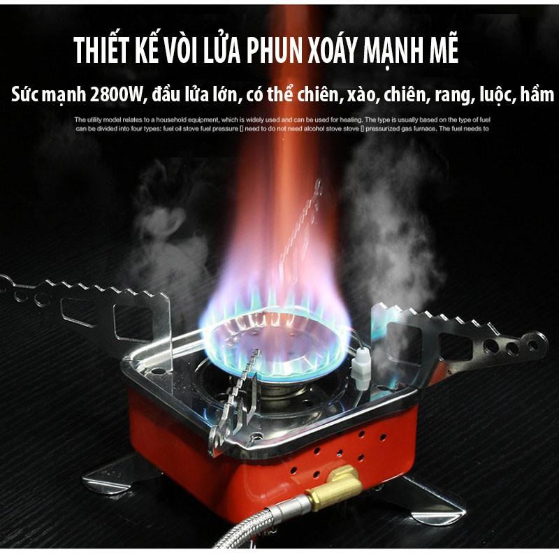 Bếp Gas Mini Du Lịch Dã Ngoại Gấp Gọn Kèm Dây Nối Bình Gas - Bếp Gas Đi Phượt Cắm Trại Vt168