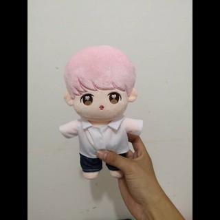 (20cm)Doll jimin tóc hồng full outft