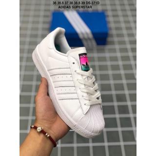 Giày thể thao nữ chính hãng Adidas SUPERSTAR Giày trượt ván cổ điển Cô gái bình thường Giày thể thao mùa hè Giày thể thao mùa hè
