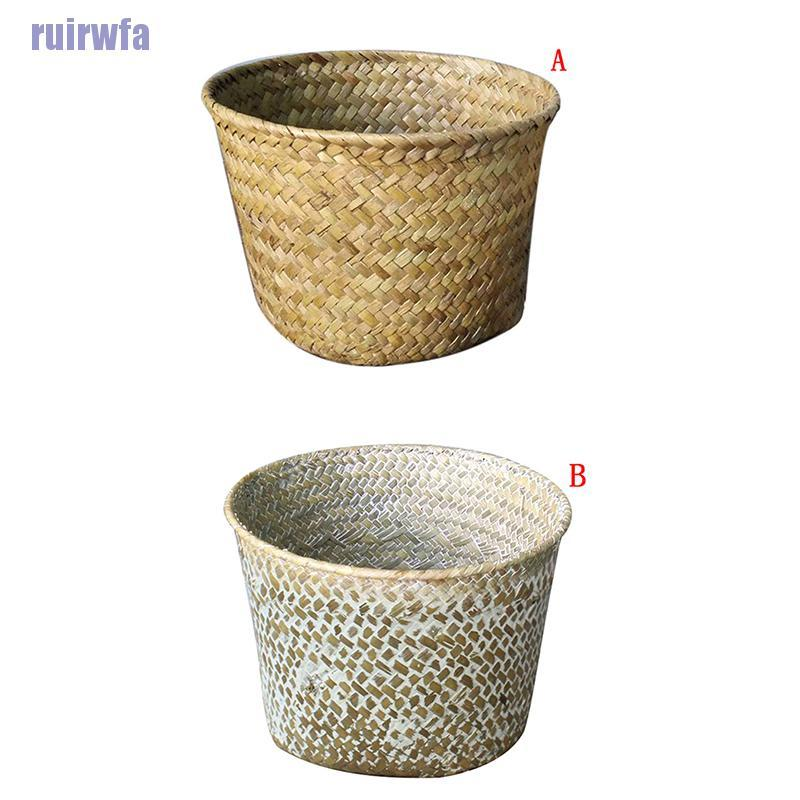【FA】rattan grass storage basket box bin container organizer clothes laundry holders