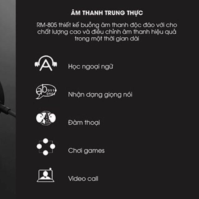 Tai Nghe Chụp Tai Cao Cấp Remax RM-805 Dành Cho Game Thủ Và Nghe Nhạc Cực Đỉnh, chính hãng bảo hành 24 tháng