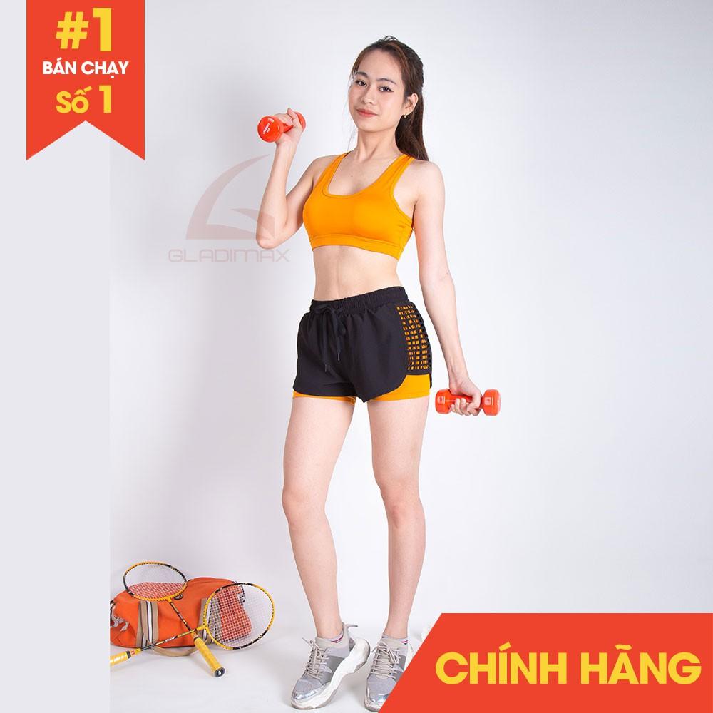 Bộ đồ tập Gym Aerobic, Quần đùi boxer, Áo bra Gladimax thể thao