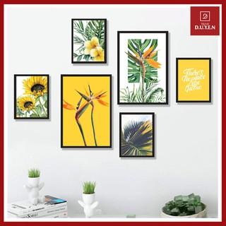 [ BÁN CHẠY ] Bộ tranh treo tường TROPICAL thiên điểu và hoa mặt trời có bảo hành.
