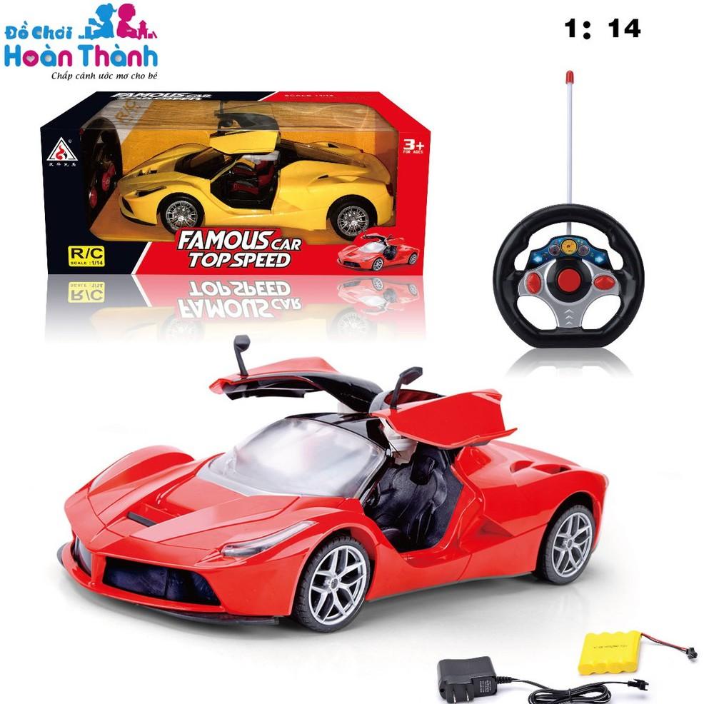 [Mã SKAMA8 giảm 8% đơn 300K] Ô tô điều khiển từ xa Ferrari 1:14 dài 30cm, có tặng kèm pin sạc