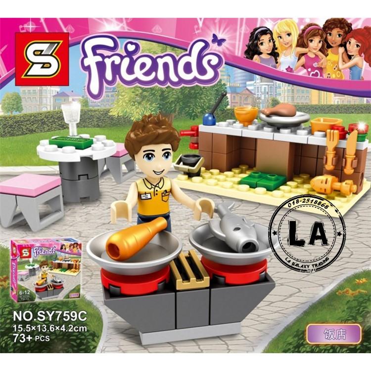 Lego Friends Picnic Quầy thịt nướng SY759C - 73 chi tiết