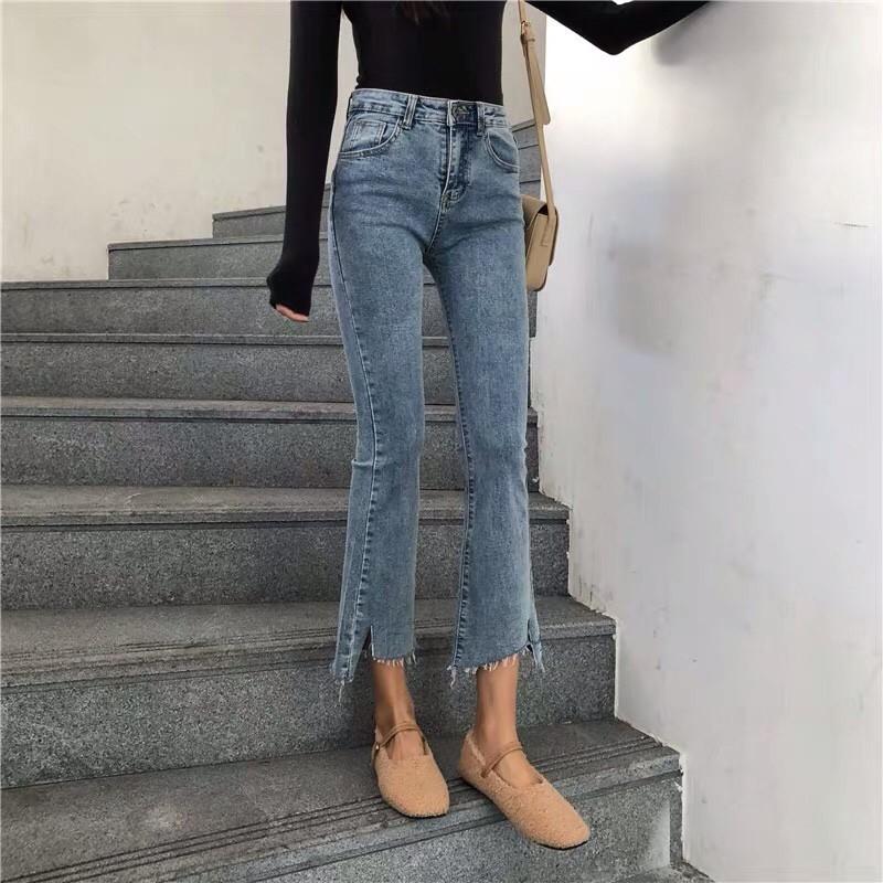 Quần Jeans Đen và Xanh Ống Loe (Có Size Lớn)