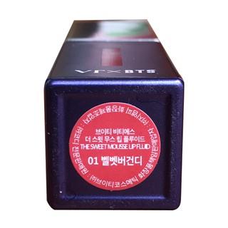 Son môi VT X BTS The Sweet Mousse Lip Fluid Son 01 - Đỏ Nhung, Son 02 - San Hô(4.5g thỏi)-4