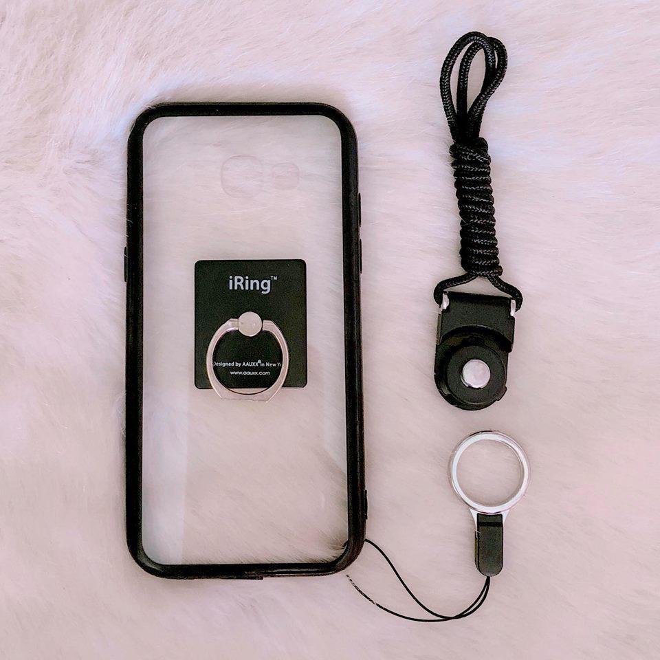 < COMBO HOT > ốp SAMSUNG A5 2017 đen + iring + dây đeo