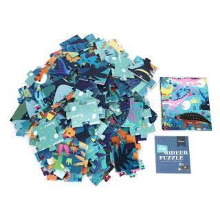 Havashop 104Pcs DIY Child Kid Jigsaw Puzzle Early Educational Toy with Portable Box