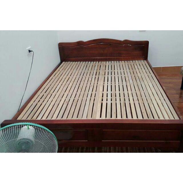 Giường gỗ thịt 1m2, 1m6, 1m8