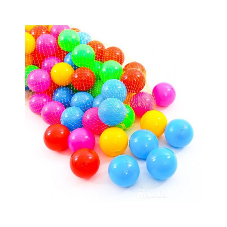 Bóng nhựa nhiều màu, Túi 100 quả cho bé