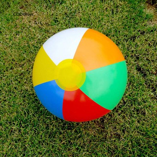 COD❀23cm Colorful Inflatable Beach Ball Swimming Pool Holiday Game Summer Kids Toy