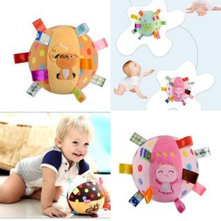 Bóng vải mềm kèm lục lạc, đồ chơi an toàn cho bé