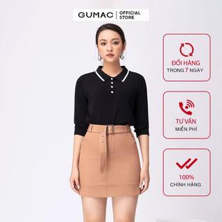 Chân váy nữ chữ A đai rời GUMAC đủ màu, đủ size, thiết kế basic VA10206