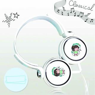 Tai nghe chụp Spirited Away Vùng Đất Linh Hồn thiết kế thông minh cá tính cắm dây có mic anime chibi