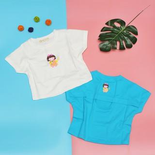 Quần áo bé gái [100% cotton] áo in hình cô gái cho bé từ 8 đến 38kg