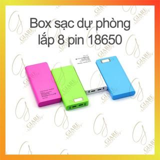 Box sạc dự phòng gắn 8 cell 18650 có LCD
