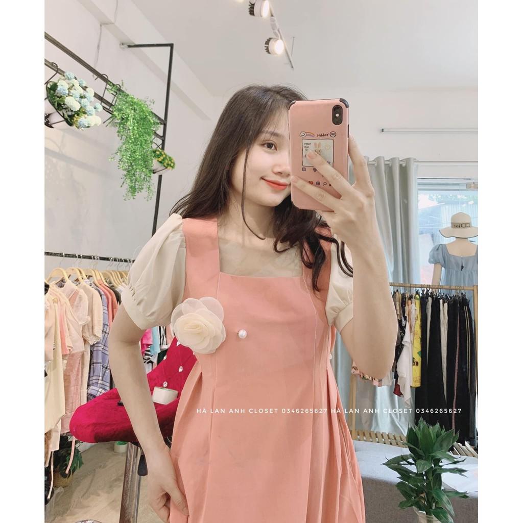 Mặc gì đẹp: Dễ chịu với Váy Bầu Hè Đầm Bầu Dáng Suông Hoa Cài Ngực freesize từ 45-75kg