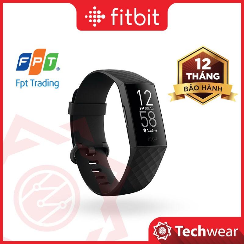 Vòng theo dõi sức khỏe thể thao Fitbit Charge 4 - Bảo hành 12 tháng FPT Techwear