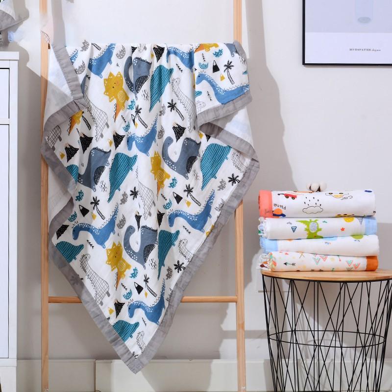 Khăn tắm xô sợi tre Aden  6 lớp có viền cho bé 🌈FREE SHIP🌈 Khăn tắm  sợi tre Aden  6 lớp kích thước 1100 x 1200 cm