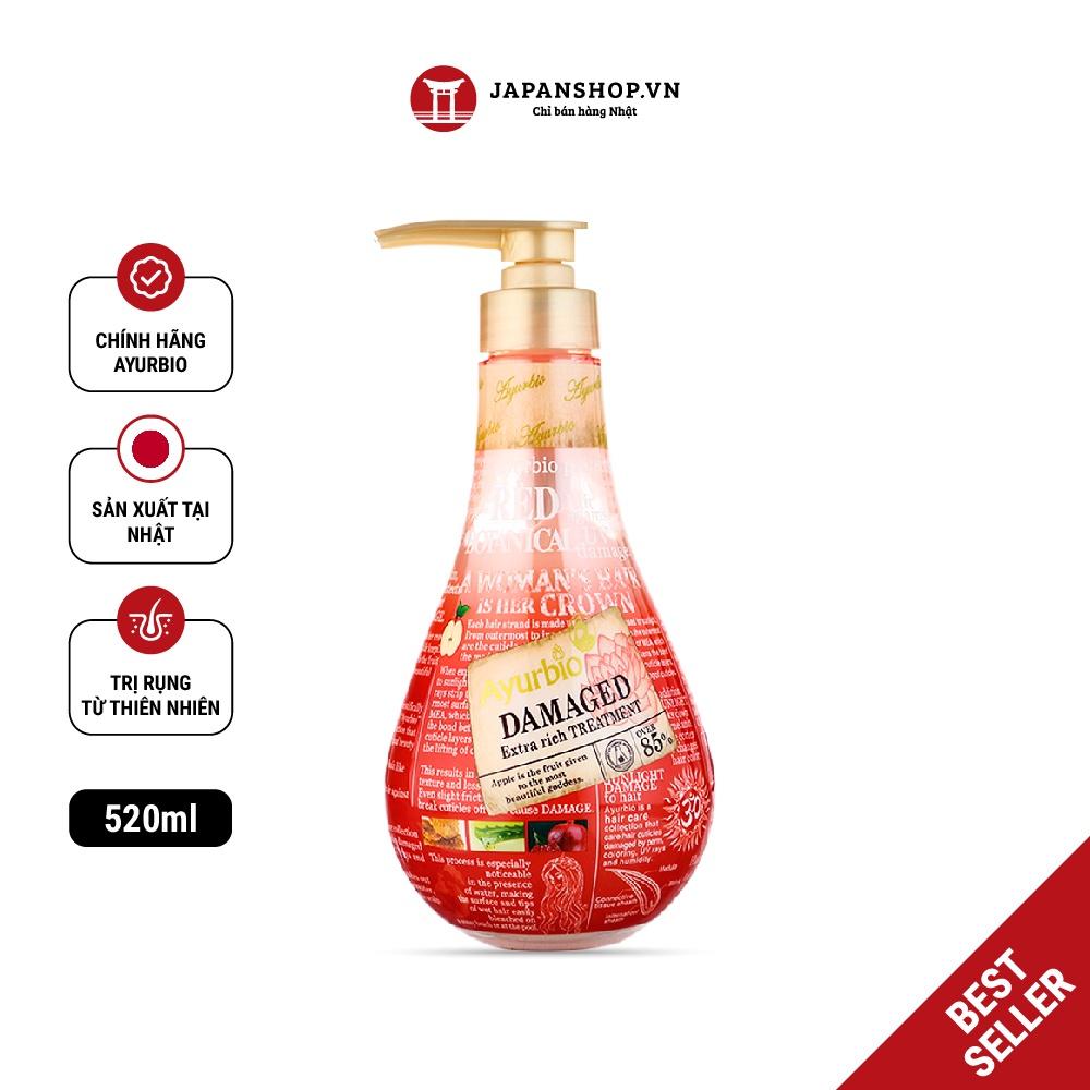 Dầu xả thiên nhiên Ayurbio ngăn ngừa rụng tóc, giảm bết dính, dầu thừa 520ml Made in Japan
