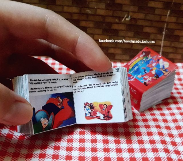 Đồ chơi miniature 1:12_ Kho tàng truyện cổ tích Walt Disney's (130 trang in màu)