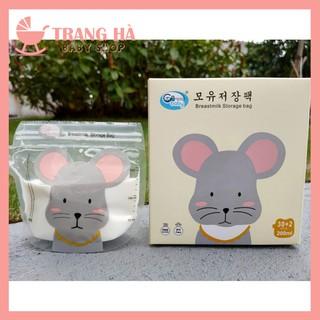[ MẪU MỚI ]Hộp 32 Túi trữ sữa GB Baby 200ml có vòi rót hình bé chuột đáng yêu thumbnail