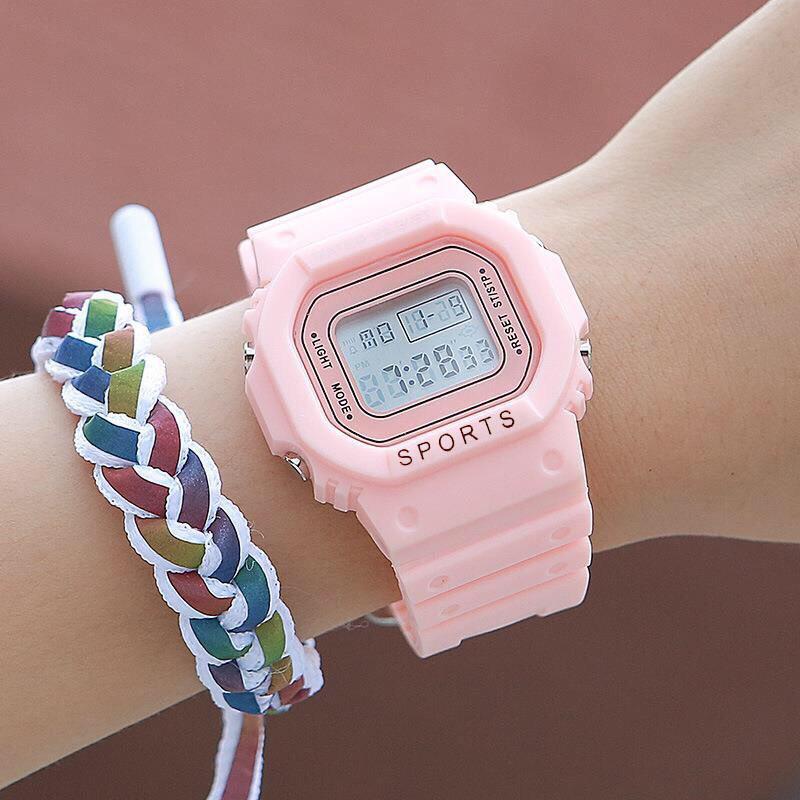 Đồng hồ điện tử nam nữ Sport màu hồng cực đẹp LS782