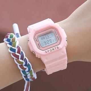 (Giá sỉ) Đồng hồ điện tử nam nữ Sport màu hồng cực hot SC644 thumbnail