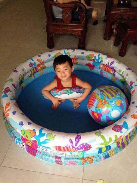 Bể phao bơi 3 chi tiết cho bé