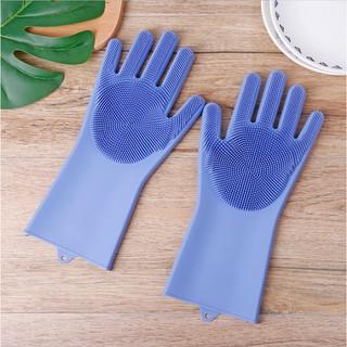 Găng tay silicon rửa bát tạo bọt (1 đôi) thumbnail
