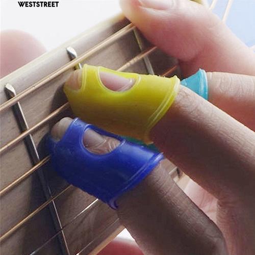 Set 4 đầu bọc bảo vệ đầu ngón tay bằng silicon khi chơi đàn guitar