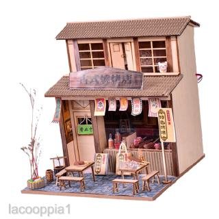 DIY Miniature Doll House Wooden Chinese Barbecue Restaurant with Furniture