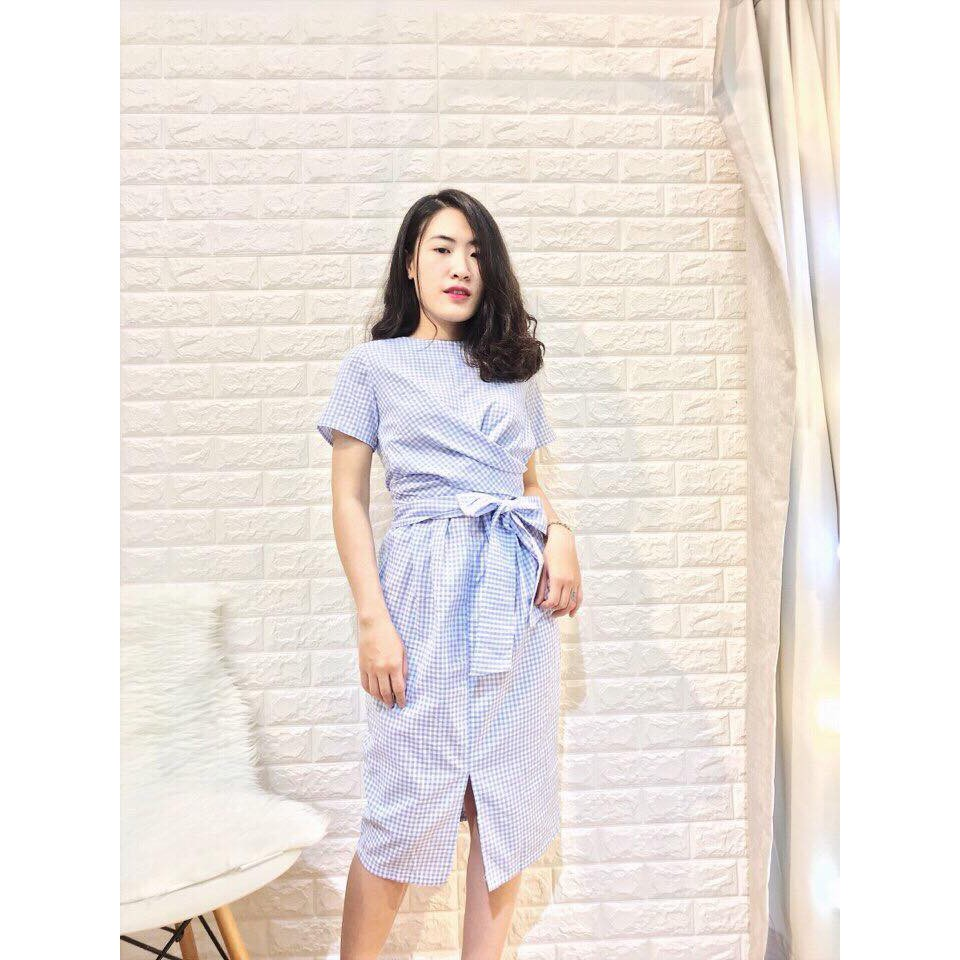 Đầm Xòe Cột Nơ Eo Xinh Lung Linh