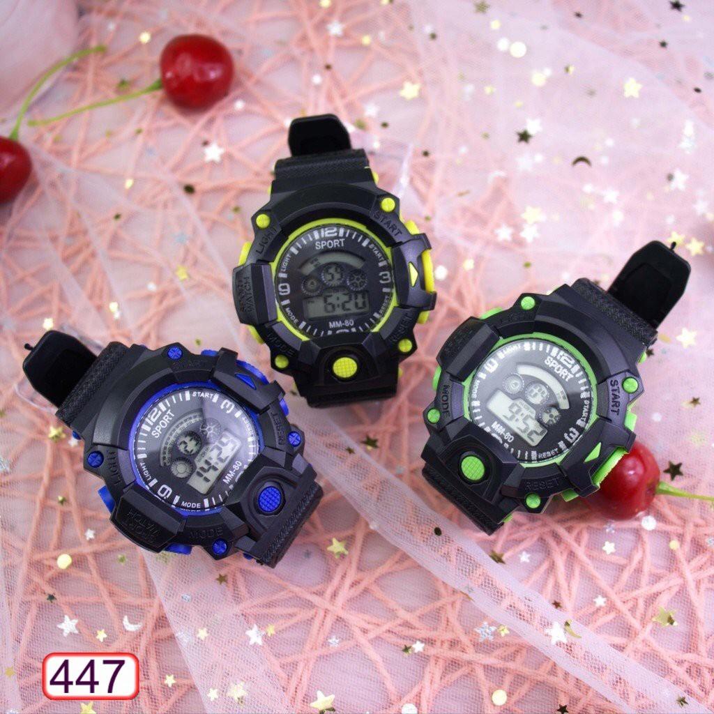 Đồng Hồ Nam Nữ SPORT 447 MM-80 Mặt Tròn Điện Tử Hot Trend