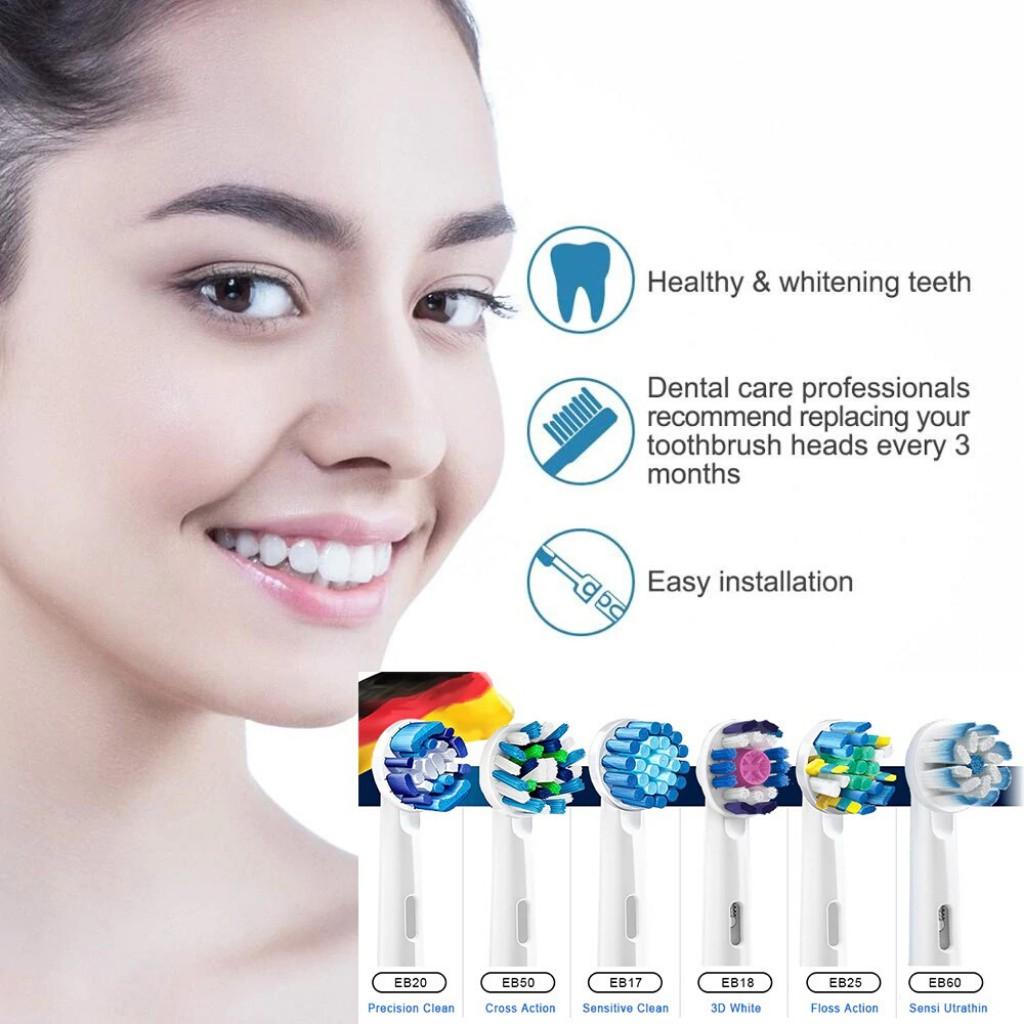Bàn chải đánh răng điện tự động Oral-B D12 tím làm sạch răng, hạn chế viêm nướu