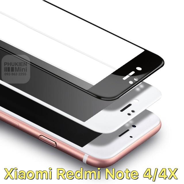 Dán full màn hình viền màu cho Xiaomi Redmi Note 4/4X