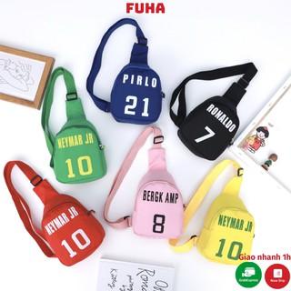 Túi đeo chéo trẻ em FUHA, túi thể thao tên cầu thủ bóng đá cho bé trai và bé gái
