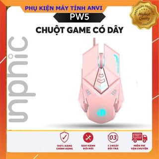 Chuột gaming có dây Inphic PW5P màu hồng đen Hỗ trợ điều chỉnh DPI 4 tốc độ - Chính hãng thumbnail