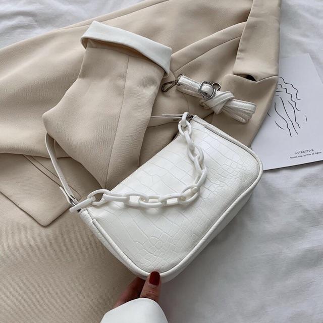 Túi Kẹp Nách Nữ🔥FREESHIP🔥Túi Đeo Chéo Nữ Kẹp Nách Dây Nhựa Siêu Hot 2020 HH605