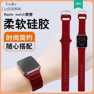 Dây Đeo Silicon Khóa Nam Châm Cho Đồng Hồ Thông Minh Apple Watch 1 / 2
