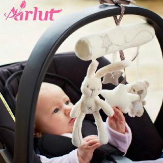 Stroller Toys Baby Rattle Bed Hanging Toys Rabbit Bear Soft Plush Music Toy